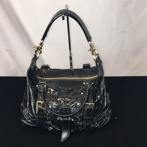 Botkier Black Patent Double Strap Purse